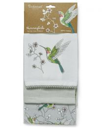 Cooksmart 3 Pack Hummingbirds Tea Towels