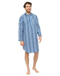 Walter Grange Striped Nightshirt - Blue