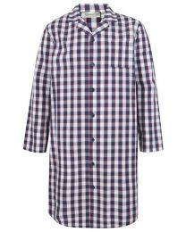 Walker Reid Classic Check Tailored Nightshirt - Navy/Red