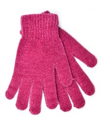 Foxbury Thermal Lined Chenille Gloves - Berry