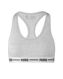 Puma Iconic Racer Back Sports Bra - Grey Melange