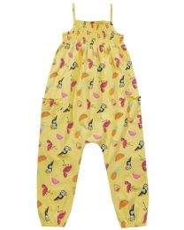 Girls Tropical Summer Playsuit - Yellow