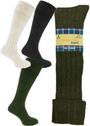 Mens 6-11 Thick Warm Wool Rich Kilt Hose Socks
