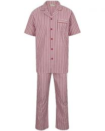 Walker Reid Cotton Stripe Pyjamas - Red